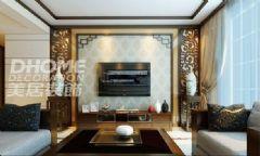 中铁·逸都国际-三居室-140平米-装修设计中式风格三居室
