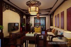 三箭瑞福苑-三居室-124平米-装修设计中式风格三居室