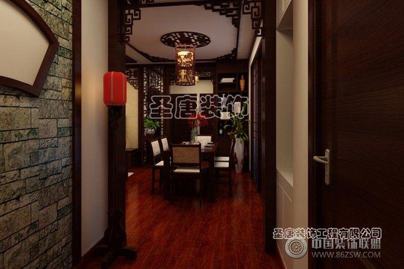 三箭瑞福苑 三居室 124平米 装修设计中式过道装修图片