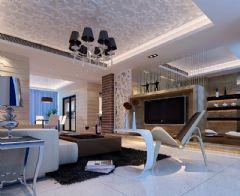 景河星宫现代风格二居室