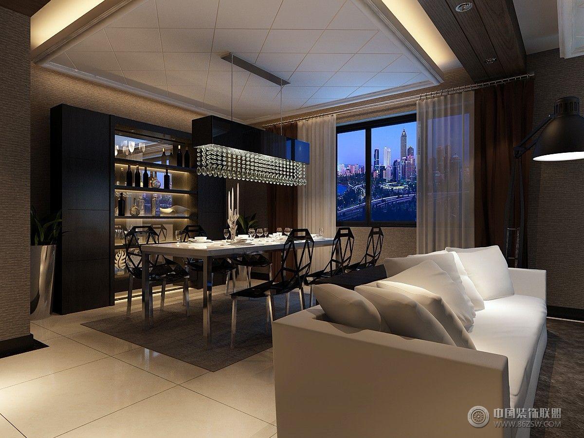 欧琳湾整套大图展示_现代三居室大户型装修效果图