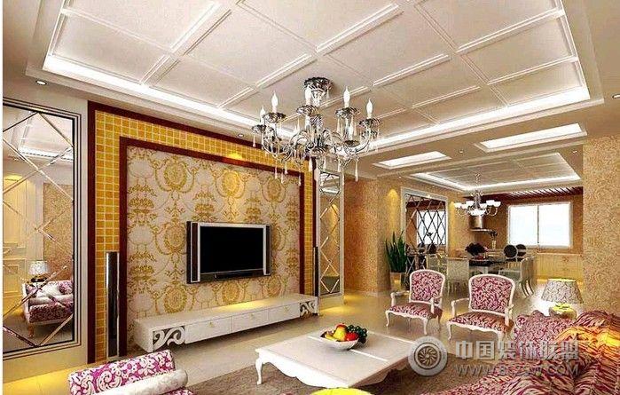 桑植欧式风格-客厅装修效果图-八六(中国)装饰联盟