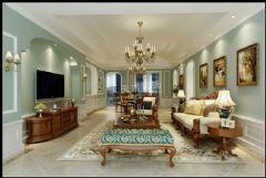 金科公园王府美式风格三居室