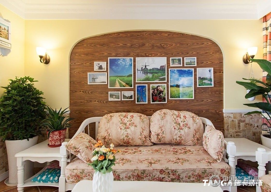 田园风格客厅装修效果图
