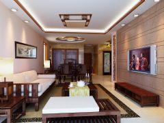 禹洲天境中式风格三居室