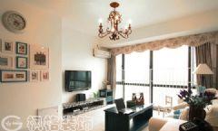 中国铁建国际城88平地中海家装地中海风格二居室