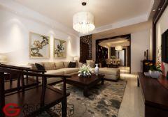 南国花园144平新中式家装效果图