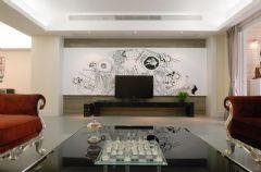 金山湖花园-四居室-135平米-装修设计简约风格三居室