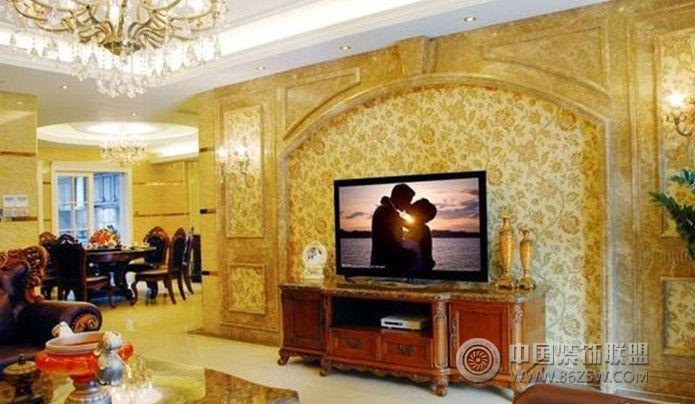 中海万佛山中海万锦苑住宅欧式客厅装修图片