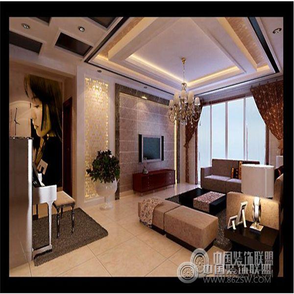 热电小区现代客厅装修图片