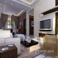 龙门小区现代风格三居室