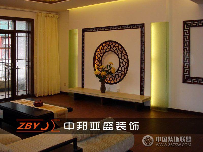 書香門第_中式三居室裝修效果圖_八六(中國)裝飾聯盟