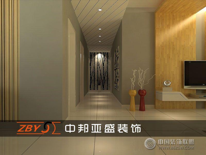 蓝蝶苑三室二厅一卫装修案例效果图 110平米设计