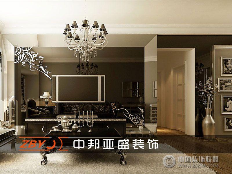 金域蓝湾_欧式三居室大户型装修效果图_八六(中国)(86