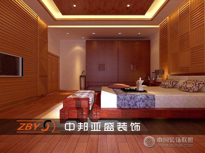 六安自建别墅中式卧室装修图片