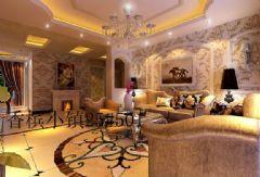 香槟小镇欧式风格三居室