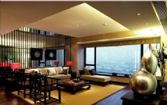 时尚新中式平层大宅成都尚层装饰中式风格大户型