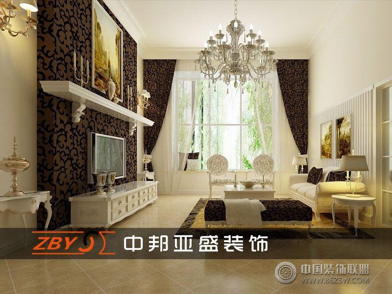 设计理念: 本套是一户复式楼设计、简欧浓缩了整个室内的精华,在家具的搭配上整个空间设计运用了欧式风格装饰手法,客厅主色调以浅色和壁纸为主,地面采用45度斜拼仿古地砖配以简欧的造型配饰,诠释了欧式的浪漫主义特点。业主的需求除了一些个性化的功能需求外,在设计风格上没有具体的定位哪种风格,不追求风格的纯粹,只要求一种感觉,一种简洁、大块面感的表达,同时略带一点点的怀旧,体现出主人既低调又高品味的居家人文环境。显了整个欧式特色、入户门厅品茶区有阳光从窗外洒进、透过窗饰的纹案、形成了室内的光影律动。品茶区的欧式吊灯