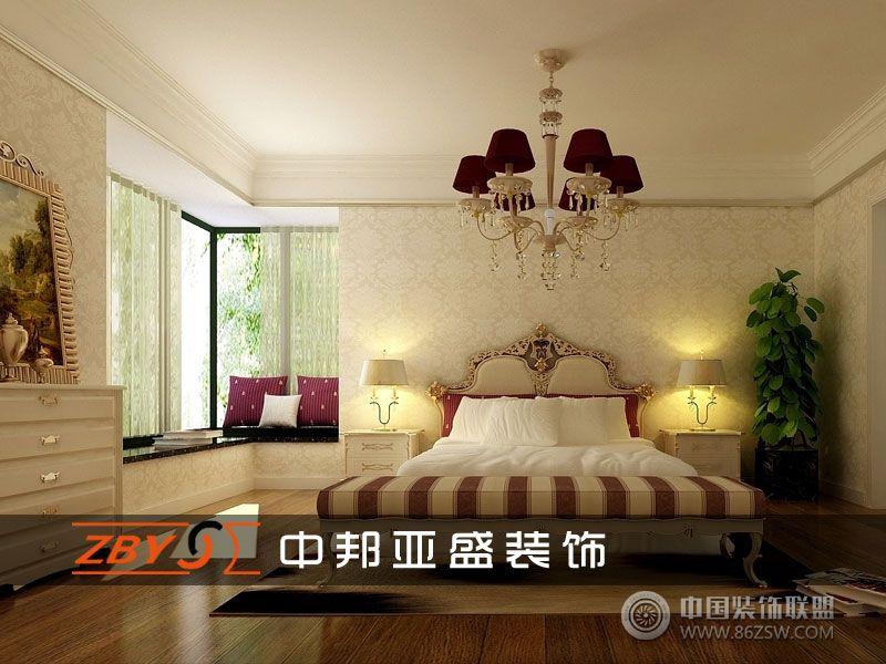 利港银河新城欧式卧室装修图片