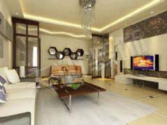 金元国际简约风格三居室