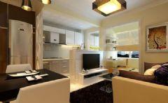 星湖城一居室-50平米-装修设计现代风格小户型