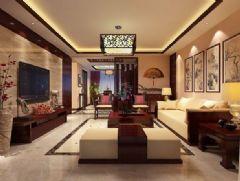東方玫瑰 -紅木林-二居室-138平米-裝修設計中式風格二居室