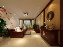 金冠园-三居室-140平米-装修设计混搭风格三居室