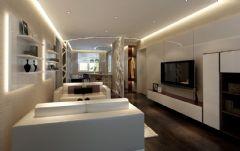 莱茵小城现代风格二居室