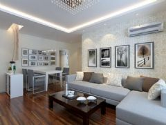 水岸名都 -二居室-75平米-装修设计现代风格小户型