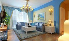 君悦华庭 二居室-90平米-装修设计地中海风格小户型