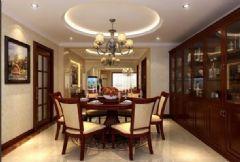 君悦华庭 -三居室-150平米-装修设计美式风格三居室