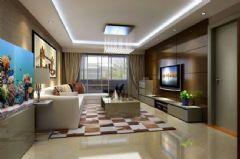 龙禧花园 -三居室-128平米-装修设计现代风格三居室