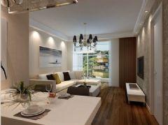 柏嘉半岛-二居室-90平米-装修设计混搭风格小户型