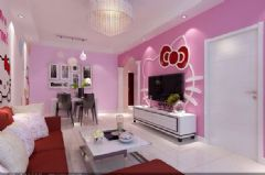锦绣江南-二居室-86平米-装修设计东南亚风格小户型