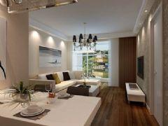 星湖城-二居室-90平米-装修设计现代风格小户型