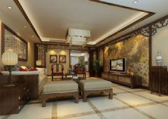 中泰花园 -四居室-190平米-装修设计中式风格四居室