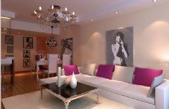 金叶岛 -三居室-134平米-装修设计现代风格小户型