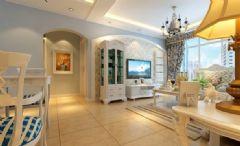玉泉花园-二居室-93平米-装修设计地中海风格小户型