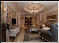 佳美花园-二居室-87平米-装修设计欧式风格小户型