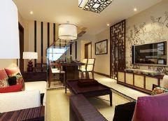 山伟学府花园-一居室-47平米-装修设计中式风格小户型
