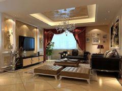 利华锦绣家园-三居室-120平米-装修设计古典风格小户型