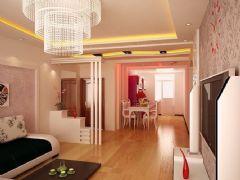 新罗小镇-二居室-76平米-装修设计现代风格小户型