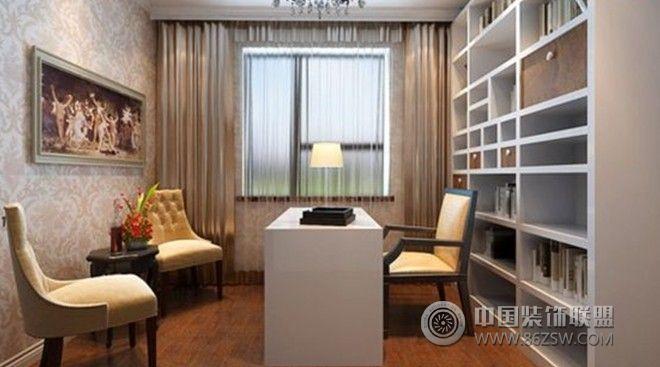 锦绣家园-三居室-140平米-装修设计-书房装修图片