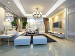 和昌运河东郡现代风格三居室