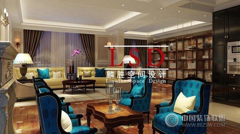 新裝飾主義風格古典客廳裝修圖片