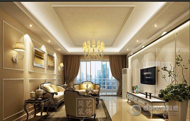 简欧风格-客厅装修效果图-八六(中国)装饰联盟装修