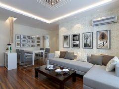 天瑞名城-二居室-75平米-装修设计现代风格小户型