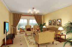香港财富广场-三居室-156平米-装修设计欧式风格小户型