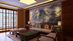 香港财富广场-三居室-160平米-装修设计欧式风格三居室