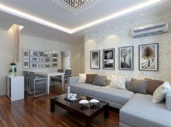金地小区-二居室-75平米-装修设计现代风格小户型